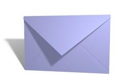 blått kuvert Arkivfoto
