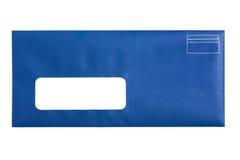blått kuvertfönster Royaltyfria Foton