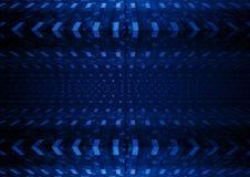 Blått kvadrerad abstrakt bakgrund Royaltyfria Foton