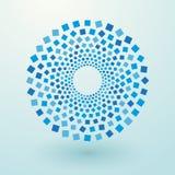 Blått kvadrerar royaltyfri illustrationer