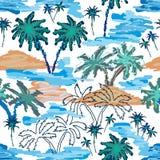 blått lagunparadis royaltyfri illustrationer