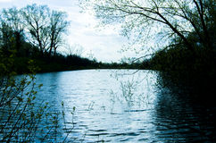 Blått Lake arkivfoton