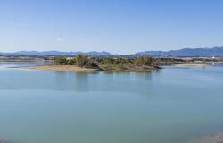 Blått Lake fotografering för bildbyråer