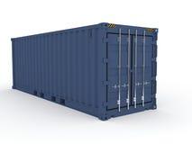blått lastbehållarehav Arkivbild