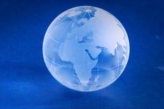 blått litet planet royaltyfri foto