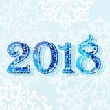 blått ljust kort 2018 Arkivfoto