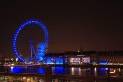 Blått ljust London öga Royaltyfri Foto