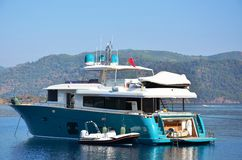 Blått lugna hav i ett fartyg Royaltyfri Bild