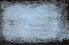 Blått målad konstnärlig kanfasbakgrund Royaltyfria Bilder