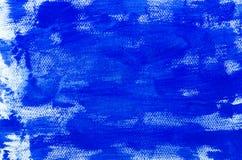 Blått målarfärgbakgrundsslut upp Royaltyfria Foton