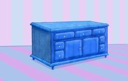 blått möblemang Royaltyfri Fotografi