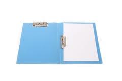 blått mappkontor Arkivbild