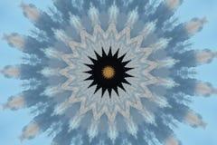 blått med den bruna prydnadkalejdoskopet vektor illustrationer