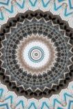 blått med den bruna prydnadkalejdoskopet royaltyfri illustrationer