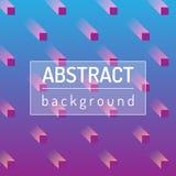 Blått med rosa färger gör sammandrag bakgrunder med oskarpa kuber Konstnärlig illustration för vektor stock illustrationer