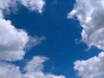 Blått med vit Arkivfoton