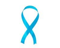 Blått medvetenhetband, sjukdomsymbol Royaltyfria Bilder