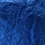 blått metalliskt för bakgrund Royaltyfri Fotografi