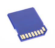 Blått minnesSD-kort Arkivbild