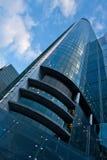 Blått modern skyskrapa Royaltyfri Bild