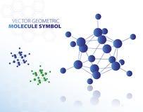 Blått molekylsymbol Royaltyfri Foto