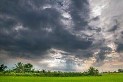 Blått moln, färg Fotografering för Bildbyråer