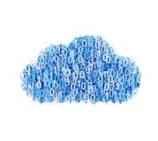 Blått moln med nummer Fotografering för Bildbyråer