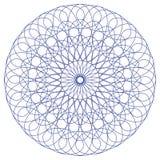 Blått monokromt cirkulär Arkivfoton