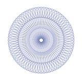 Blått monokromt elegant cirkulär Arkivfoto