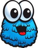 blått monster royaltyfri illustrationer