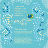 blått mosaikregn Royaltyfri Foto