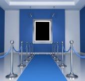 blått museum Arkivfoto