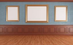 blått museum Royaltyfri Bild