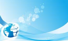 blått nätverk vektor illustrationer