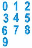 Blått numrerar från kuber Royaltyfri Fotografi