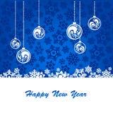 blått nytt år för bakgrund Royaltyfria Bilder