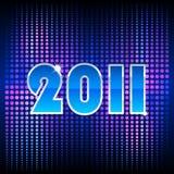 blått nytt år för bakgrund Royaltyfri Bild