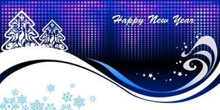 blått nytt år för bakgrund Arkivfoto