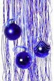 blått nytt år för bollar Fotografering för Bildbyråer