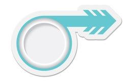Blått objekt med pilen stock illustrationer