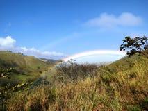 Blått och grönt berg royaltyfri fotografi