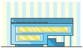blått- och gulinghus Arkivbild