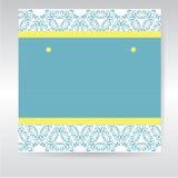 Blått och gult hälsningkort Royaltyfria Foton
