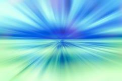 Blått- och klarteckensunburstbakgrund Arkivbild