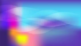 Blått och lilor vinkar digital abstrakt waveformvektorbakgrund Royaltyfri Foto