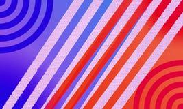 Blått och röd linje arkivfoto
