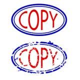 Blått och röd rubber stämpel, kopia royaltyfri illustrationer