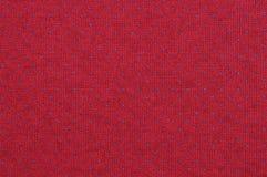 Blått och röd stucken tygtextur Arkivfoton