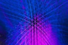 Blått och rosa abstrakt begrepp för ljus strimma Royaltyfria Bilder