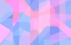 Blått och rosa geometrisk bakgrund Royaltyfri Bild